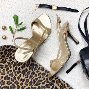 Nine West Gold Heeled Sandals